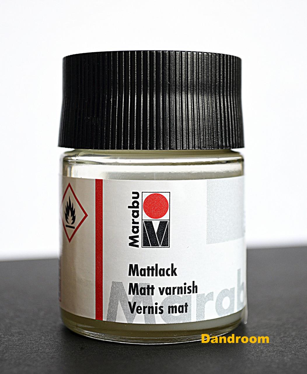 Лак финишный на основе растворителя, матовый, 50 мл, Marabu