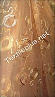Тюль персикиковая абстракция, фото 1