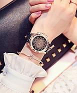Женские часы Classic Diamonds с черным ремешком, жіночий наручний годинник, Женские наручные часы с камушками, фото 2