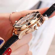 Женские часы Classic Diamonds с черным ремешком, жіночий наручний годинник, Женские наручные часы с камушками, фото 4