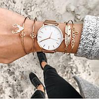 Женские часы Classic steel watch розовое золото, жіночий годинник, часы с металлическим ремешком