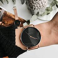 Женские часы Geneva Classic steel watch розовое золото, жіночий наручний годинник, кварцевые часы, часы Женева, фото 2