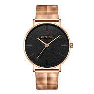 Женские часы Geneva Classic steel watch розовое золото, жіночий наручний годинник, кварцевые часы, часы Женева, фото 3