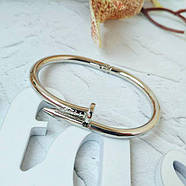 Женский браслет гвоздь серебряный цвет, Жіночий браслет гвіздок, Браслетик в форме гвоздя, фото 2