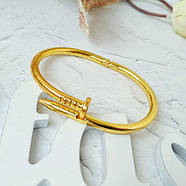 Женский браслет гвоздь золотой цвет, Жіночий браслет гвіздок, Браслетик в форме гвоздя, фото 2