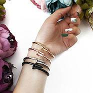 Женский браслет гвоздь золотой цвет, Жіночий браслет гвіздок, Браслетик в форме гвоздя, фото 3