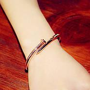 Женский браслет гвоздь розовое золото, Жіночий браслет гвіздок, Браслетик в форме гвоздя, фото 2