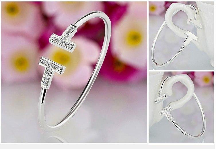 Женский браслет серебряного цвета, Жіночий браслет срібний