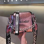 Женская сумка голограммная через плечо, Жіноча сумочка голограмма, Женский клатч, фото 2