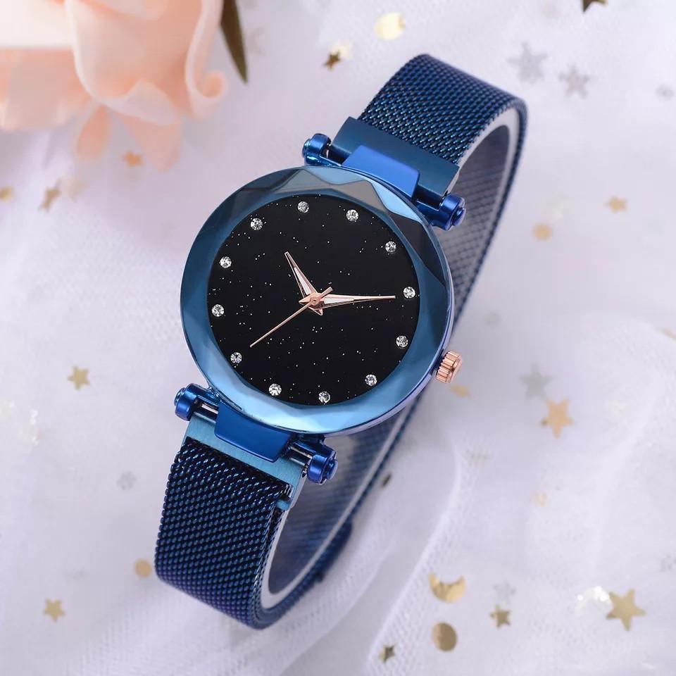 Женские часы на магнитной застежке Starry Sky синие, жіночий годинник,часы Звездное небо на магните