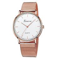 Женские часы Geneva Classic steel watch розовое золото, жіночий наручний годинник, наручные кварцевые часы, фото 2