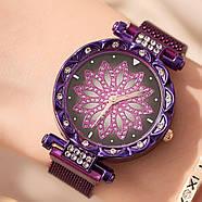 Женские часы на магнитной застежке Starry Sky фиолетовые, жіночий годинник,часы Звездное небо на магните, фото 3
