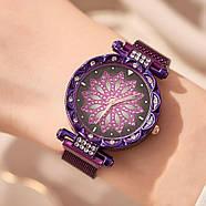 Женские часы на магнитной застежке Starry Sky фиолетовые, жіночий годинник,часы Звездное небо на магните, фото 2