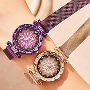 Женские часы на магнитной застежке Starry Sky фиолетовые, жіночий годинник,часы Звездное небо на магните, фото 4