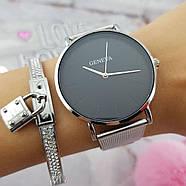 Женские часы Geneva Classic steel watch серебряные, жіночий наручний годинник, наручные кварцевые часы Женева, фото 2