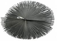 Щетка металлическая плоская для чистки дымохода ЛЮКС (175 мм)