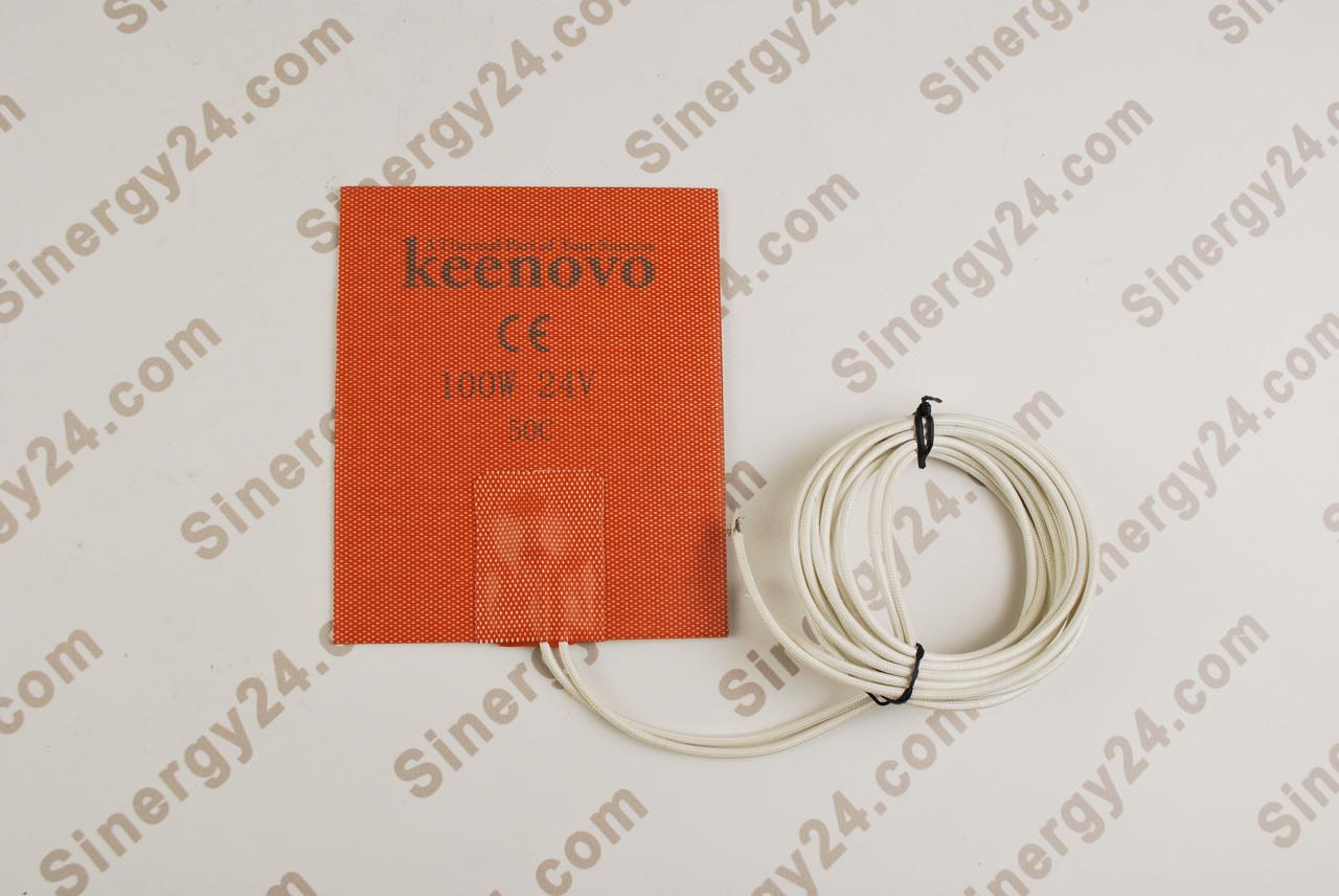 Гибкая нагревающая пластина 100Вт, 24В, (127х152мм), терморегулятор 50 градусов