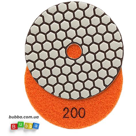 Алмазный гибкий шлифовальный круг ЧЕРЕПАШКА для сухой шлифовки, АГШК зернистость 200, d 100мм, фото 2