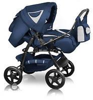 Универсальная коляска-трансформер Яся, Trans baby Яся т.синий+металлик