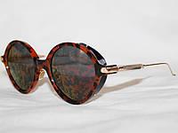 Очки в стиле Givenchy S1991 золото коричневый леопард зеркальные поляризационные линзы