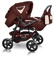 Универсальная коляска-трансформер Яся, Trans baby Яся, т.коричневый+беж/молоко