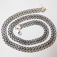 Серебряная цепь, черненная, размер 60 см