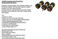 OKI B6200/6300/6500710 XEROX 4500/4510, Комплект роликов подачи из лотка 604K11192 (604k19890/78860/78861) OEM