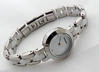 Женские часы Сh@nel серебристые с белым, lux копия, chanel, шанель