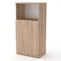 Шкаф книжный КШ-15 дуб сонома (61х37х120 см)