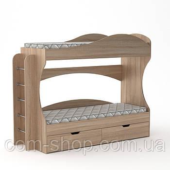 Кровать двухъярусная Бриз дуб сонома