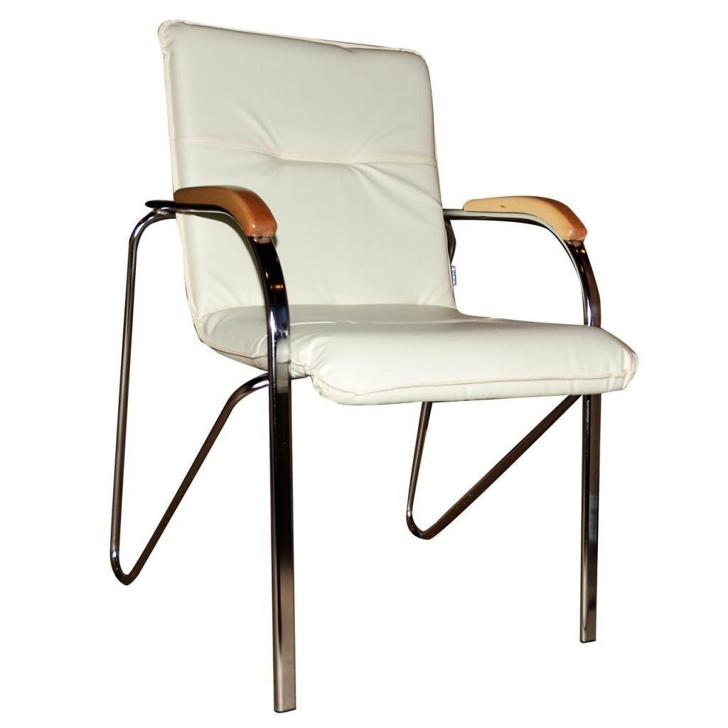 Офисный стул ПРИМТЕКС ПЛЮС Samba chrome wood 1.007 S-82 Beige (Samba chrome wood 1.007 S-82)