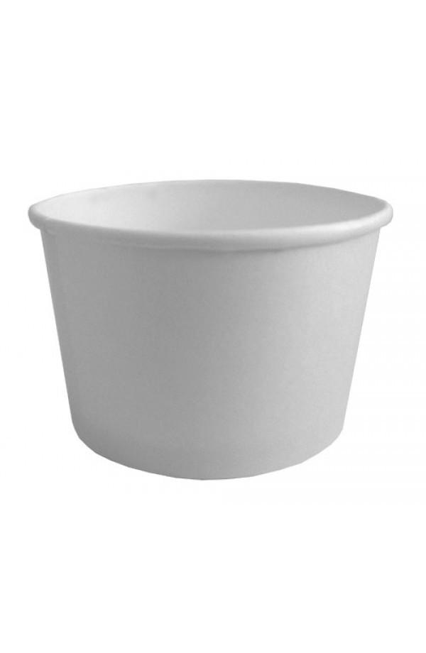 Контейнер бумажный для супа и вторых блюд белый 470мл, Ǿ=110мм, h=68мм Без крышки