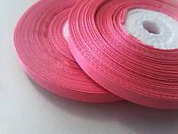 Лента атласная розовая яркая 6 мм бобина 33 м