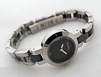 Женские часы Сh@nel серебристые с черным, lux копия, chanel, шанель