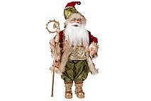 Новогодняя игрушка Санта 46см, цвет - красный с зеленым