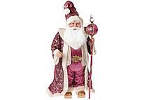 Новогодняя игрушка Санта 71см, цвет - розовый