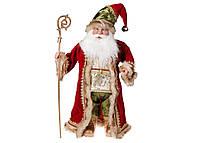 Новогодняя игрушка Санта 71см, цвет - красный с зеленым
