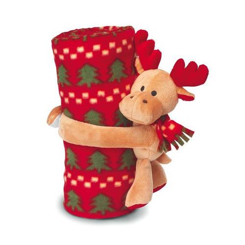 Новогодние пледы с мягкой игрушкой - теплый подарок малышу