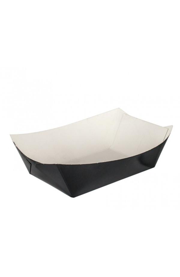 Тарелка-лодочка бумажная малая 106х72х42мм черная