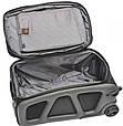 Удобный чемодан среднего размера на 2-х колесах 68 л. VERUS Monte Carlo, MC.24.grey серый, фото 2