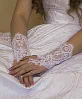 """Свадебные перчатки """"15-241"""" (кремовые)"""