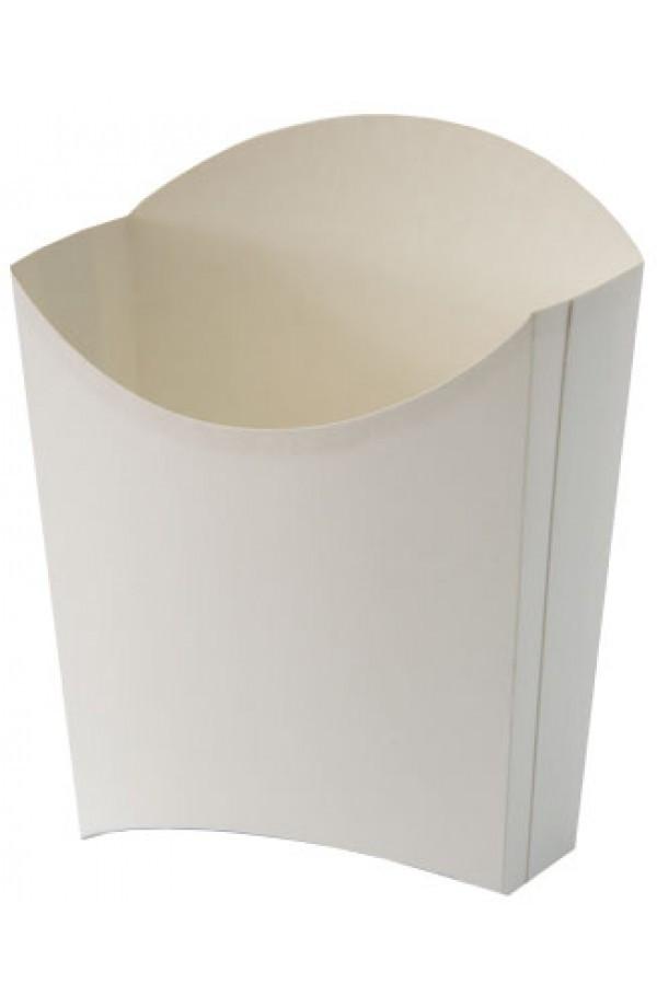 Коробка бумажная для картошки фри М (малая) 90/65х115 белая для 150 грамм 100 шт/уп