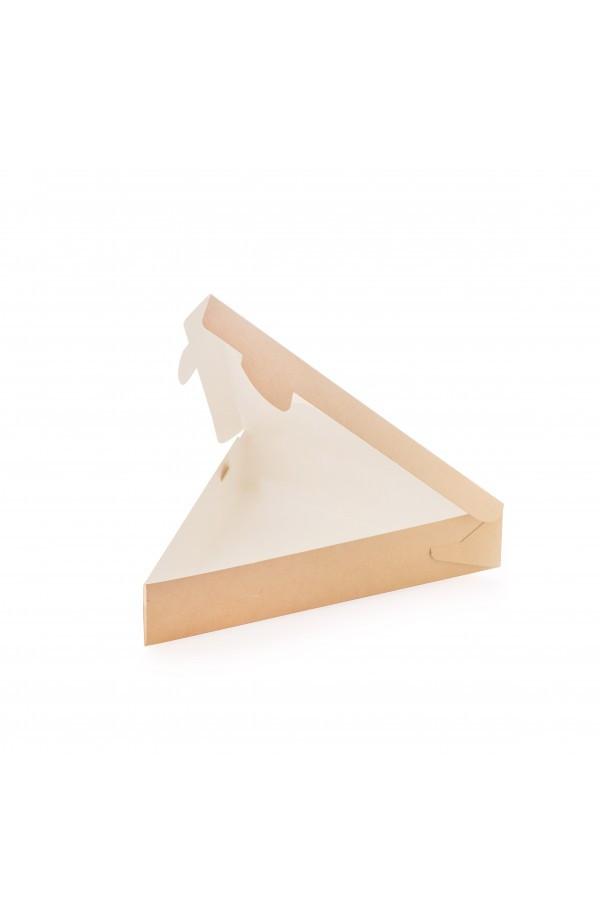Коробка під шматочок піци трикутна 220*200*40мм