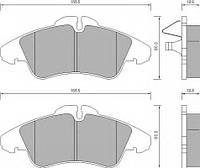 Тормозные колодки передние система ATE Mercedes Vito 2.3D/2.2CDI 96-03 Fomar 627281
