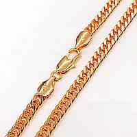 """Цепочка Xuping Jewelry 71 см х 5 мм """"Кобра"""" медицинское золото, позолота 18К. А/В 4442"""