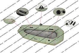 Резиновая лодка Лисичанка модель Язь (двухместная)
