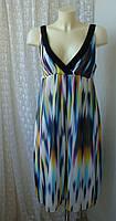 Платье женское легкое летнее сарафан миди бренд Next р.48