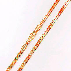 """Цепочка Xuping Jewelry 50 см х 3 мм """"Кобра"""" медицинское золото, позолота 18К. А/В 4444"""