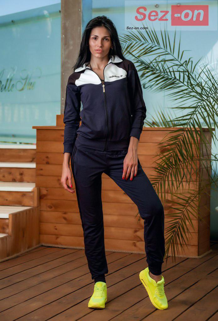 Костюм спортивний жіночий штани і куртка Адідас ― Індиго