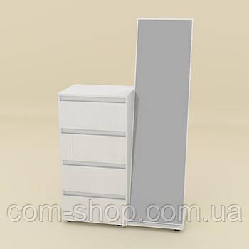 Комод с зеркалом белый  (100х45х166 см)